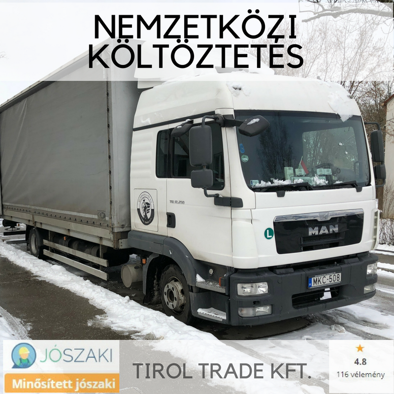 Külföldre költözés teherautóval