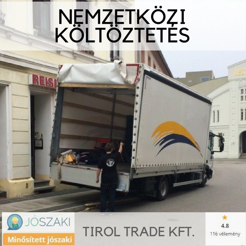 7,5 t teherautó nemzetközi költöztetéshez