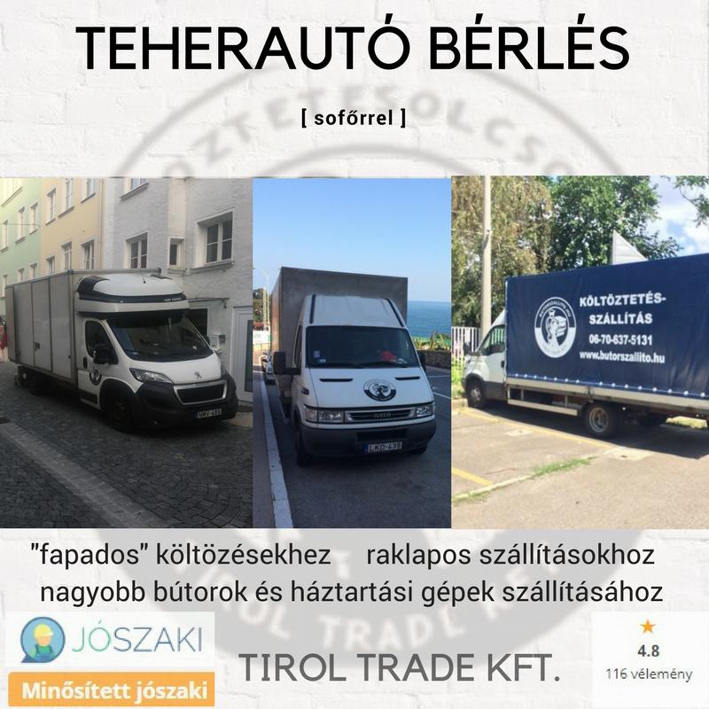 TEHERAUTÓ BÉRLÉS SOFŐRREL - PLATÓS