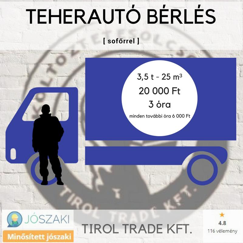 Teherautó bérlés budapesti költöztetéshez