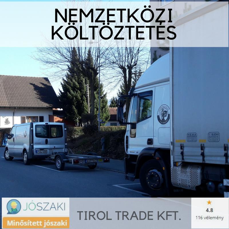 3,5 tonnás teherautó utánfutóval költözéshez